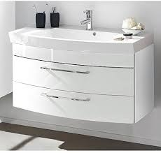 komplett badmöbel set badezimmermöbel hochglanz weiß