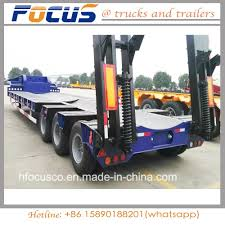 China Best Price Lowbed / Low Bed Semi Trailer Driven By Tractor ...