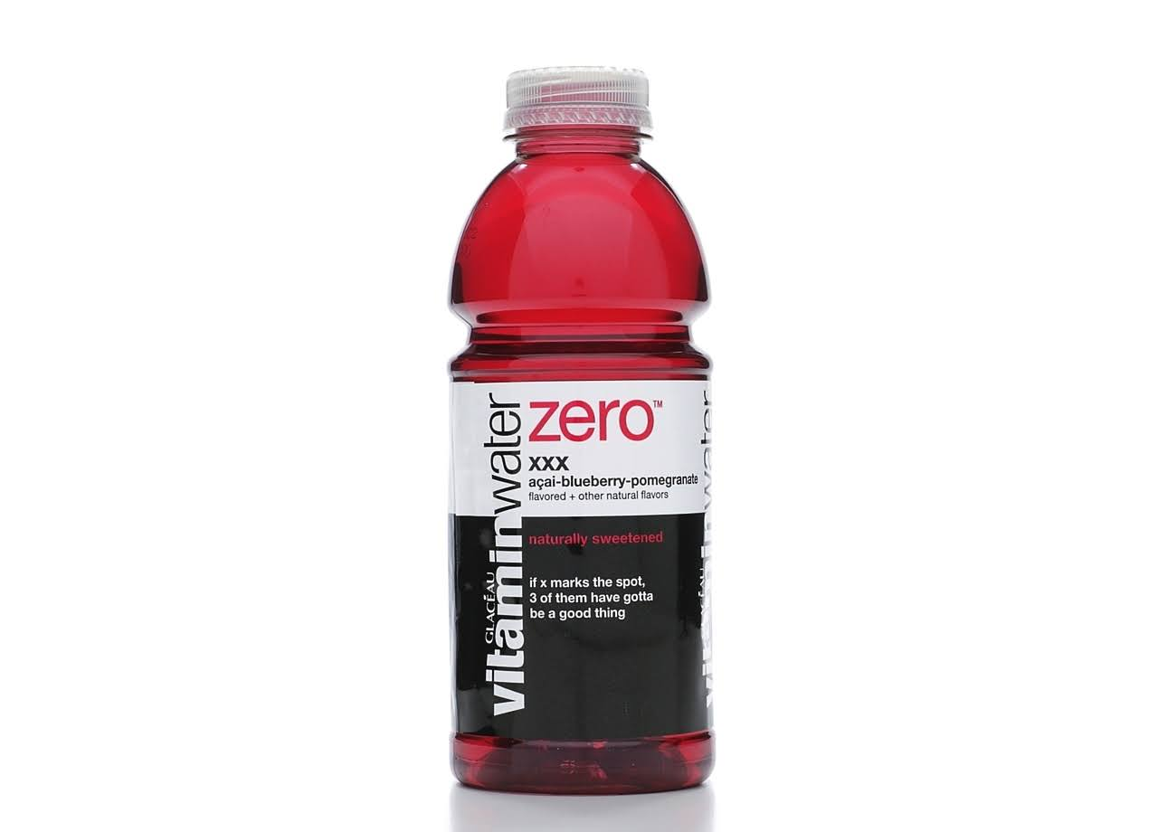 Glaceau Vitaminwater Zero Nutrient Enhanced Water Beverage, XXX Acai-Blueberry - 20 oz bottle