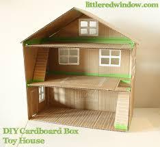 Easy Diy Toy Box by Diy Cardboard Box Toy House Diy Cardboard Cardboard Boxes And