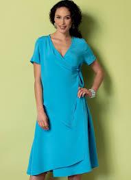 butterick 6359 misses u0027 women u0027s wrap front dresses with overlays