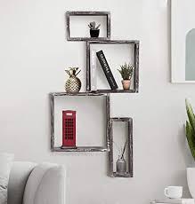 j jackcube design 4 würfel wandmontierte rustikale schweberegale holz ausstellungsregal schattenbox dekorative wand für wohnzimmer badezimmer küche
