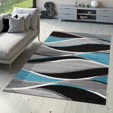 designer teppich toledo modern meliert geschwungene streifen
