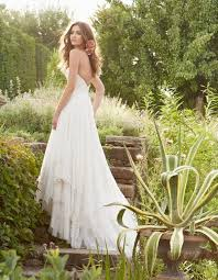 Elegant Low Back Wedding Dress2014 Rustic