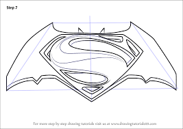 Learn How To Draw Batman V Superman Logo Dawn Of Justice Step By Drawing Tutorials
