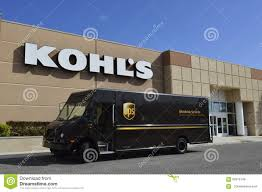 100 Truck Stores UPS In Front Of Kohls Department Store Editorial Stock Image