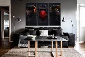 ddsda 3 teile leinwand bild 3x50x70cm gesamt 150x70cm drei weise affen wandbilder kunstdruck wohnzimmer dekor kreatives geschenk 3 teiliges leinwand