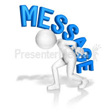 ID Stick Figure Carry Message Presentation Clipart
