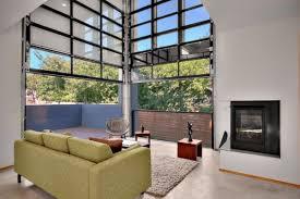 Sectional Glass Garage Doors Used In Modern Designs Door Living Room
