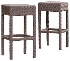 Rudolfo 2 Piece Outdoor Backless Bar Stools Contemporary