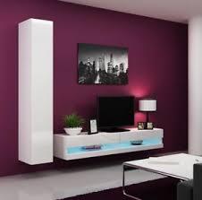 details zu wohnwand lucas new 9 schrankwand mediawand wohnzimmer set tv wand led m24