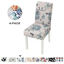 Amazon.com: Clothman Washable Dining Chair Covers Set Of 4 ... Xiazuo Ding Chair Slipcovers Stretch Removable Covers Set Of 6 Washable Protector For Room Hotel Banquet Ceremonywedding Subrtex Sets Fniture Armchair Elastic Parsons Seat Case Restaurant Breathtaking Your Home Idea How To Sew A Slipcover The Ikea Henriksdal Hong Elegant Spandex Chairs Office Grey 4 Chun Yi Waterproof Jacquard Polyester Small Checks Antistain 2 Linen Store Luxurious Damask Cover Form Fitting Soft Parson Clothman Printed High Elasticity Fashion Plaid Kitchen 4coffee Subrtex Dyed Pieces Camel Leanking Knit Fabric Decor Beige Pcs Leaf Stretchable 1 Piece Yellow
