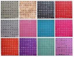 100 plastic scrabble tiles letters for crafts scrapbook 12