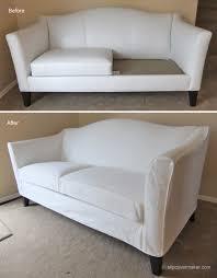 Ethan Allen Leather Sofa by White Denim Slipcover For Ethan Allen Leather Sofa The Slipcover