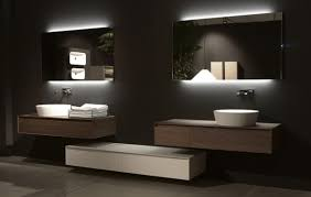 lighted bathroom mirror essential home with regard to wall plan