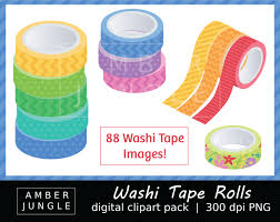 Halloween Washi Tape Uk by Washi Tape Roll Clipart Instant Download Washi Tape Clip