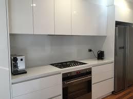 Splash Guard Kitchen Sink by Light Grey Glass Kitchen Splashback By Creoglass Design London Uk