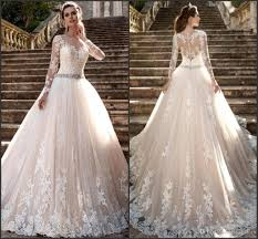 discount modest long sleeve milla nova 2017 wedding dresses sheer