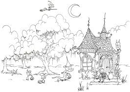 Coloring Page Trick Or Treating Creatures Printable For Halloween
