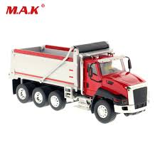 100 Red Dump Truck Toys For Child 150 Scale Diecast Alloy CT660 In