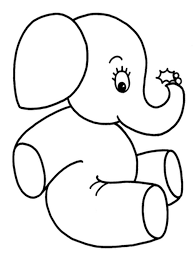 Baby Elephant Coloring Pages Realistic At Face Page