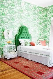 schlafzimmer mit tapete mit pastoralen bild kaufen