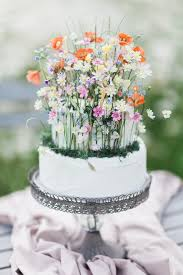 Unique And Special Wildflower Wedding Cake Just Add More Tiers