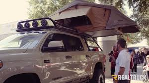Custom Adventure Toyota Tundra With Roof Rack Truck Tent SEMA 2016 ... Diy Fj Cruiser Roof Rack Axe Shovel And Tool Mount Climbing Tent Camper Shell For Camper Shell Nissan Truck Racks Near Me Are Cap Roof Rack Except I Want 4 Sides Lights They Need To Sit Oval Steel Racks 19992016 F12f350 Fab Fours 60 Rr60 Bakkie Galvanized Lifetime Guarantee Thule Podium Kit3113 Base For Fiberglass By Trucks Lifted Diagrams Get Free Image About Defender Gadgets D Sris Systems Mounts With Light Bar Curt Car Extender