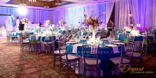 Silver Wedding Chairs Pink And Blue Reception Hall