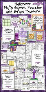 Halloween Brain Teasers Math by Halloween Math Games Third Grade Fun Halloween Activities