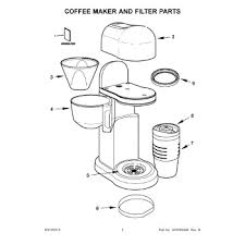 Parts For KitchenAid KCM0402CU0 Coffee Maker And Filter