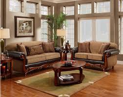 Mocha Traditional Sofa Love Seat Living Room Furniture Set Wood Chenille