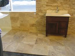 Glazzio Tiles Versailles Series by Picasso Travertine 18x18 6x18 And Cambria Strips Anatolia