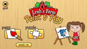 Leahs Farm Paint And Play Is A Free Coloring Book For Kids The Comes With More Than 20 Cartoon Images To Funny Music Played In