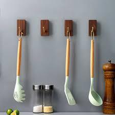 natürliche holz schlüssel halter wand montiert badezimmer tür aufhänger handtasche hut schal wand haken nordic hause dekoration handtuch haken