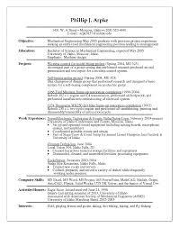Template Mechanical Engineer Curriculum Vitae Examplesng Resume