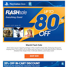 DEAD YMMV 20% Off PlayStation Store Coupon In This Week's Newsletter ...
