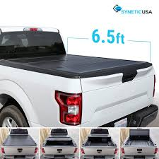 Syneticusa Aluminum Hard Folding Tonneau Cover Tri-Fold Cargo Truck ...