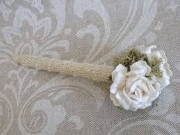 Items Similar To Rustic Vintage Shabby Chic Burlap Guest Book Wedding Pen Woodland Garden On Etsy
