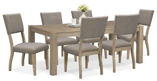 Tribeca Table And 6 Upholstered Side Chairs - Gray   American ... Alcove Counterheight Dinette With 4 Side Chairs Orange American Signature Ding Room Table W 6 On Popscreen Fniture Sets Flyer Weeklyadsus American Signature Fniture Patio Sets Christralationsnet Pretty Old Tavern Collection Ethan Allen Comb Back Chair Astounding Of Martinsville With Esquire Tango Stone 5 Pc 42 Tables Impressive Drew Cherry Sofa