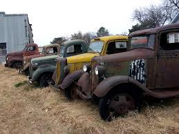 100 Rusty Trucks Old Trucks Row Of Rusty Trucks How Many Can You Id Flickr
