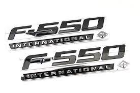 100 F550 Truck Amazoncom Emblem Warehouse 2 New Pair Set Custom Chrome