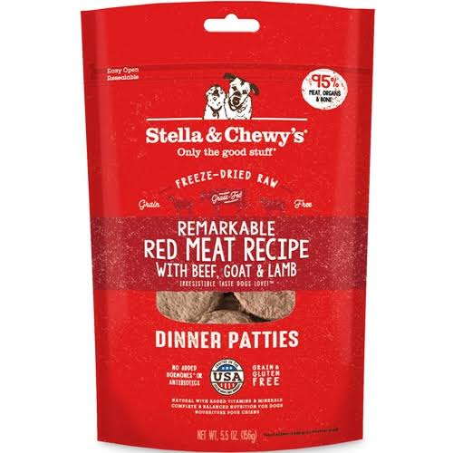 Stella & Chewy's Red Meat Dinner Patties Raw Freeze-Dried Dog Food 5.5oz
