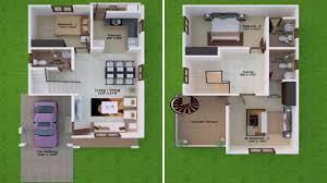 30x30 2 Bedroom Floor Plans by House Design 30 X 30 Youtube