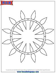 Simple Art Pattern Mandala Coloring Page
