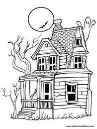 coloriage la maison hantée coloriage maisons