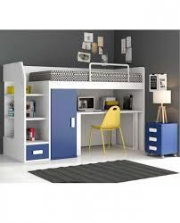 lit mezzanine 1 place bureau integre le lit mezzanine description square deco