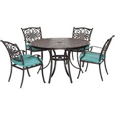 5 Piece Bar Height Patio Dining Set by Cambridge Seasons 5 Piece All Weather Round Patio Dining Set With