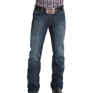 Cinch Men's Ian Dark Stone Slim Bootcut Jeans