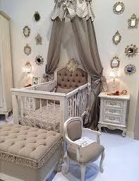 Bedroom Charming Baby Cache Cribs With Curtain Panels And by Elegant Baby U0027s Nursery With Mirrored Furniture And Sleigh Bed Crib
